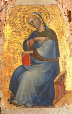 Giovanni da Milano - Vergine dell'Annunciazione (Polittico pisano, particolare) - 1355-1360 - Museo nazionale di San Matteo, Pisa.