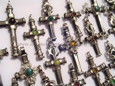 Assorted Cross Pendants. Click the link to purchase our unique handmade Peruvian jewelry at awesome wholesale prices (includes shipping & insurance!)  Make money with your own online or offline business selling Peruvian Jewelry or save big on beautiful gifts for yourself or that special someone! Click here:  http://www.wholesaleperuvianjewelry.com/