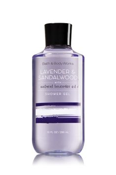 Lavender & Sandalwood - Shower Gel - Signature Collection - Bath & Body Works - Our pampering Shower Gel conditions while it cleanses and comforts the senses with an aromatic blend of fragrance. Enjoy real benefits from good ingredients including nourishing Shea Butter and soothing Aloe & Cocoa Butter.