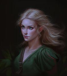 Half elf woman layariel by chazillah