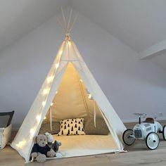Namiot tipi naturalny duży - Babosklep - Wystrój pokoju dziecięcego