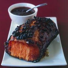 Glazed Smoked Loin of Pork with Cumberland Sauce