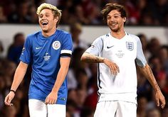 Niall and Louis at the soccer aid
