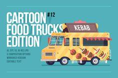 Cartoon Food Truck - Kebab by painterr on @creativemarket