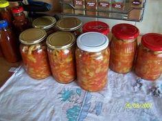Picture of Recept - Sterilované lečo - do rizota, číny na pizzu nebo klasicky se salámem Salsa, Pizza, Tasty, Jar, Canning, Kitchen, Food, Cuisine, Cooking