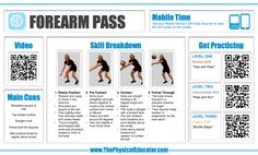 #Volleyball Forearm Pass. Find even more QR Code Skill Posters for #physed at http://www.thephysicaleducator.com/resources/skill-posters/