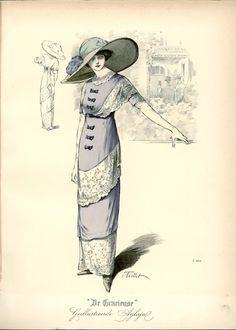 1912 Edwardian Fashion Plate