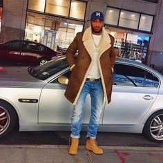 Perfect Winter Men Style With Bane Coat 09 Coat game get Timberland Outfits Men, Timbs Outfits, Urban Fashion, Mens Fashion, Style Masculin, Stylish Mens Outfits, Mens Clothing Styles, Clothing Ideas, Men's Clothing