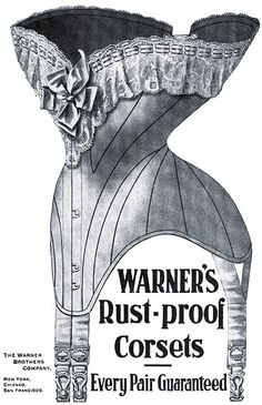 corset vintage ad - One does always want to aim for a rust-proof corset. :) #Edwardian #ad #1900s #corset