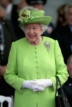 Queen Elizabeth II watches a Ceremony to Commemorate D-Day 70 on Sword Beach, 06.06.2014 in Ouistreham, France.