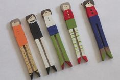 clothespin people. Put a string on them and have a puppet show.  What we did for fun in the old days.