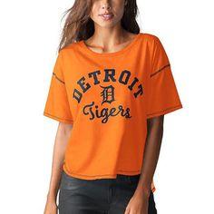 Detroit Tigers Touch by Alyssa Milano Women's Second Base Reversible T-Shirt - Orange