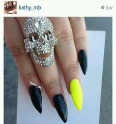 Black x Neon Nails