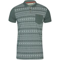 Boohoo Aztec Pocket Polo ($12) ❤ liked on Polyvore featuring men's fashion, men's clothing, men's shirts, men's polos, green, mens aztec shirt, mens green polo shirt, mens pocket t shirts, mens long sleeve cotton shirts and men's pocket polo shirts