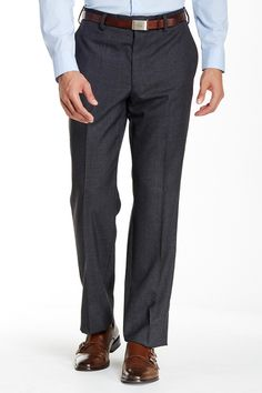 Solid Worsted Wool Modern Fit Pant by Louis Raphael on @nordstrom_rack