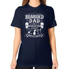 BEARDED DAD Unisex T-Shirt (on woman)
