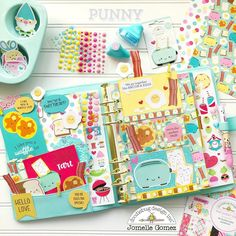 So Punny Planner Pages and Embellishments Cute Planner, Planner Layout, Planner Pages, Happy Planner, Planner Stickers, Planner Ideas, Summer Planner, Planner Decorating, Decorating Ideas