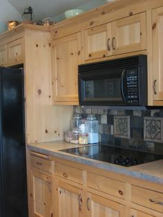 New Knotty Pine Kitchen Cabinets
