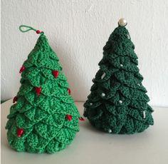 Horgolt karácsonyfa krokodilmintával