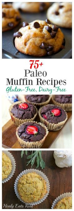 Paleo Muffins @ Healy Eats Real Gluten Free, Dairy Free tasty muffins! Great for snacks or breakfast!