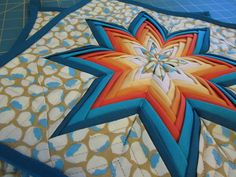 BMQG Kitchen Swap - Folded Star Pot Holder by A Quilting Jewel, via Flickr