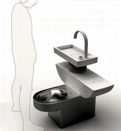 Das Öko-WC Konzept des koreanischen Designers Jang Woo-Seok soll in Zukunft helfen, Wasser einzusparen und auch bereits genutztes Wasser wiederzuverwenden. Zu