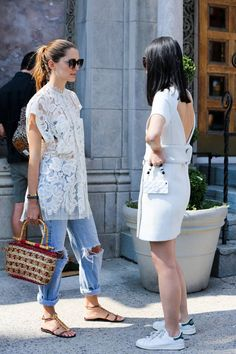 Idée et inspiration look d'été pour femme tendance 2017   Look Tendance   Description  NYFW Street Style Photos – Spring 2015 New York Fashion Week Street Style Pictures – Elle