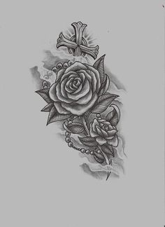rose n rosary raw by ~konZ3pt on deviantART