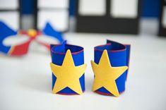 Cereal box superhero cuffs Hero Crafts, Super Hero Costumes, Superhero Party, Teaching Music, Craft Tutorials, Holiday Parties, Crafts For Kids, Create, Birthday