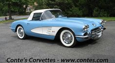 *1953 Corvette convertible, love the 2tone color, and wide white wall tires.