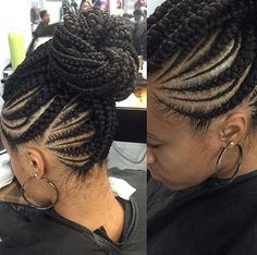 nice Nice braid pattern via @narahairbraiding - Black Hair Information Community