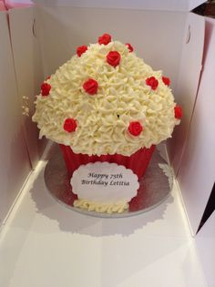 large red velvet cupcakes