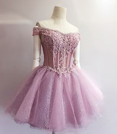 Elegant Homecoming Dress,Lace Homecoming Dress,Cute Homecoming Dress,Short Prom Dress,Off the Shoulder Prom Gowns,