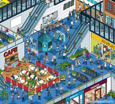 Expansive Cityscape Advertising Campaign Illustration on Behance