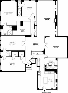 The Beresford Apartments at 211 Central Park West Floor Plans for 4 Bedroom Apartment