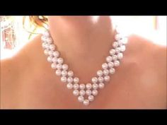 DIY COLLAR DE PERLAS PARA MAMÁ!  DIY Pearl Necklace! - YouTube