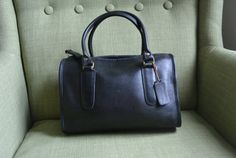 Coach NYC Madison Satchel in Black by TheAdventurersLegacy on Etsy