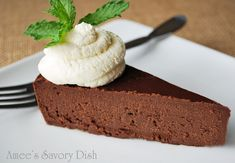 Paleo Flourless Chocolate Cake  18 oz Bittersweet Chocolate (Ghirardelli chocolate chips recommended) 1 cup coconut oil ¾ cup real maple syrup (can sub with organic,raw agave nectar or local honey) 2 tbsp water ¼ tsp sea salt 6 whole eggs 2 tsp good quality vanilla extract