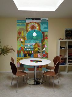 update on my fabric mid-century mairy blair style mural by dennisthebadger, via Flickr