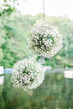 Baby's breath balls for ceremony decor
