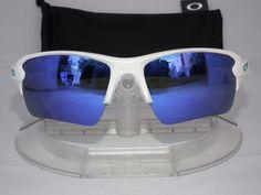 Custom Oakley Flak Jacket 2 0 XL Sunglasses OO9188 Matte White Violet Iridium | eBay