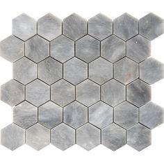 Afyon Grey Marble 2-inch Hexagon Polished Tile