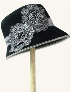 Louise Green Sterling Lace cloche hat from Victorian Trading co.