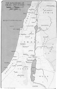 Map of Judah Today (Map of the divided kingdoms of Israel and Judah) - Bing Images