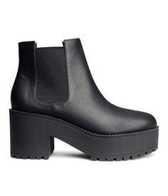 Platform Boots - Vegan Leather Boots - Product Detail | H&M US