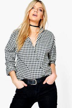 Samia Gingham Wrapover Shirt