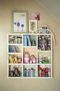 Got to make this type of shelf in to our home too!