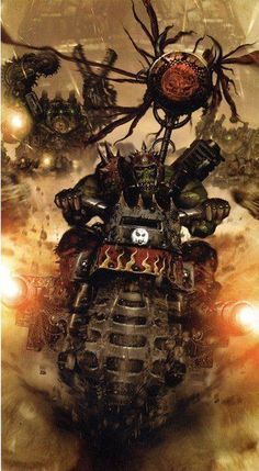 Ork Kult of Speed Warhammer 40k Rpg, Orks 40k, Martial, Tyranids, Game Workshop, The Grim, Space Marine, Illustrations, Looks Cool
