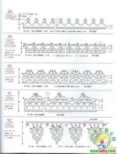 crochet borders - I really like the bottom one!