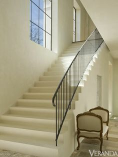 """""""Pamela Pierce's Top 10 Picks""""    Iron Railings and Plaster Stairs  The combination of a simple iron railing with an elegant plaster stair doesn't get any better. It's architecturally beautiful and really makes a statement. Plus, it can work in both traditional and contemporary settings."""